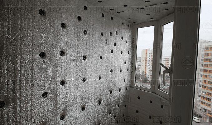 Утепление балкона тепофол фото