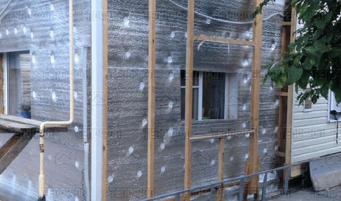 Утепление фасада дома Тепофол Спб